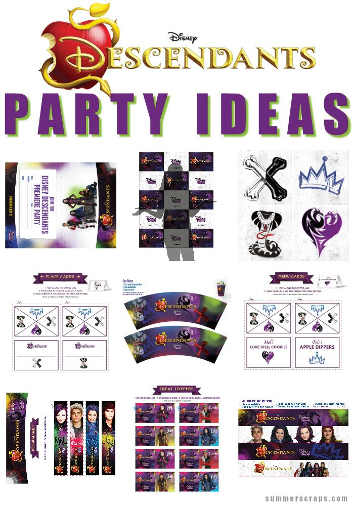Disney-Descendants-Party-Ideas-SummerScraps