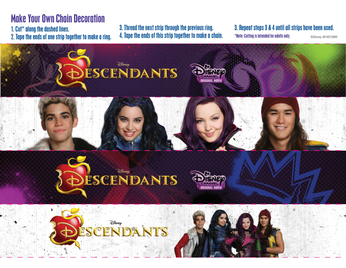 Disney-Descendants-free-party-printables-paper-chain