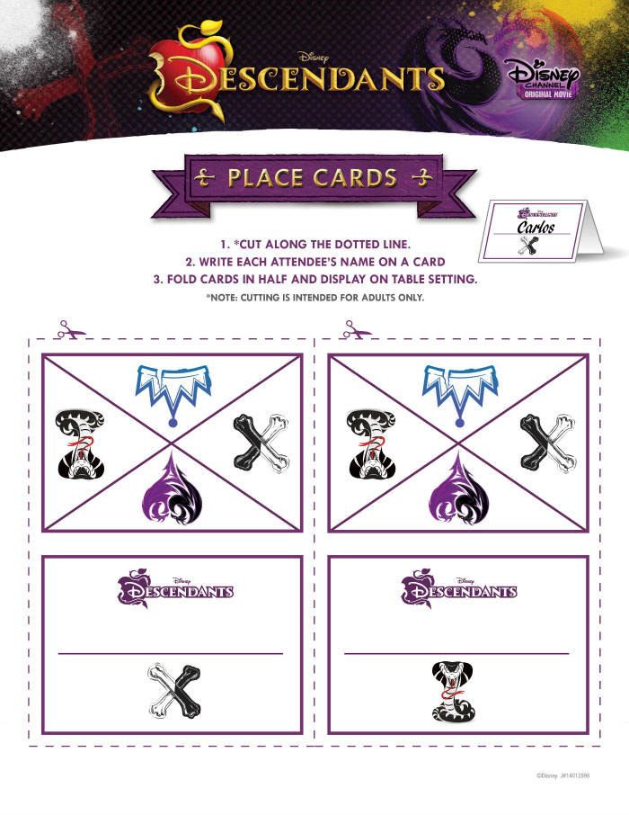 Disney-Descendants-free-party-printables-place-cards