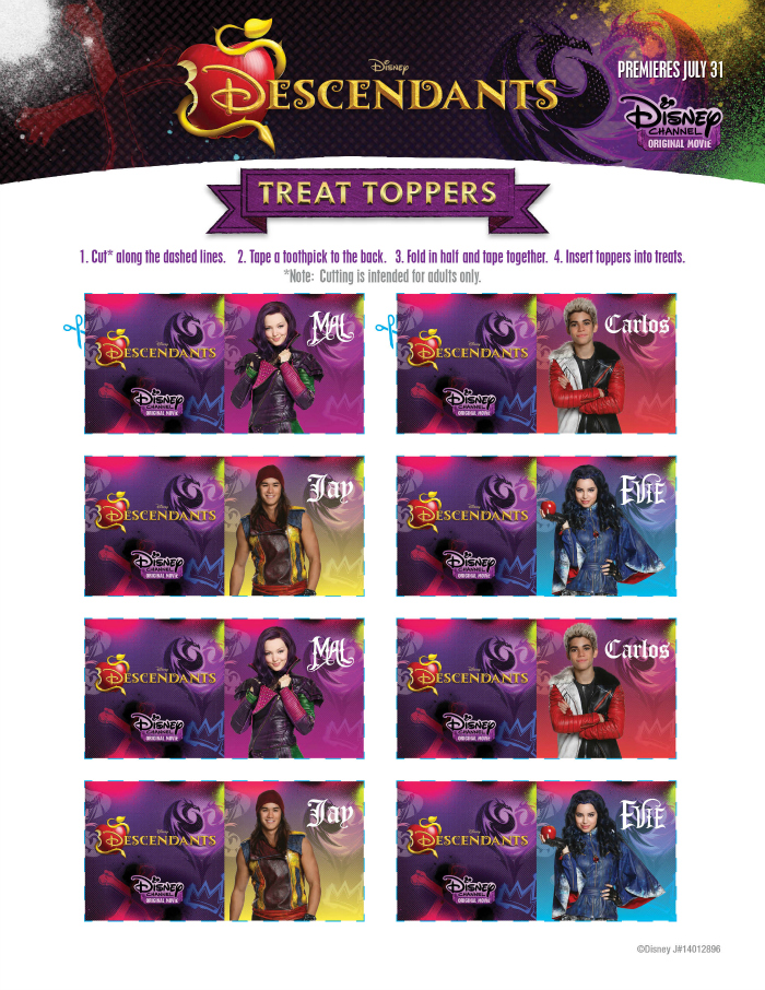 Disney-Descendants-free-party-printables-treat-toppers