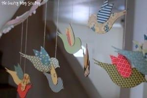 How To Make A Hanging Bird Garland