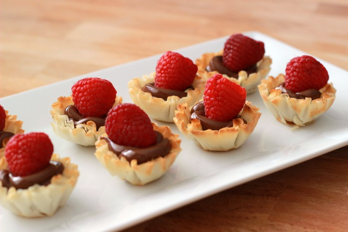 Nutella and Raspberry Fillo Cups 3