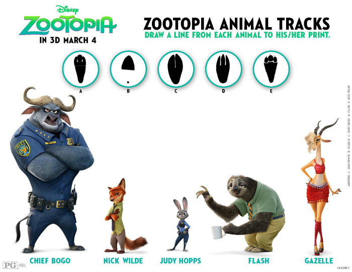 Zootopia-Activity-Sheet-Animal-Tracks-Matching-Game-collage-700-541