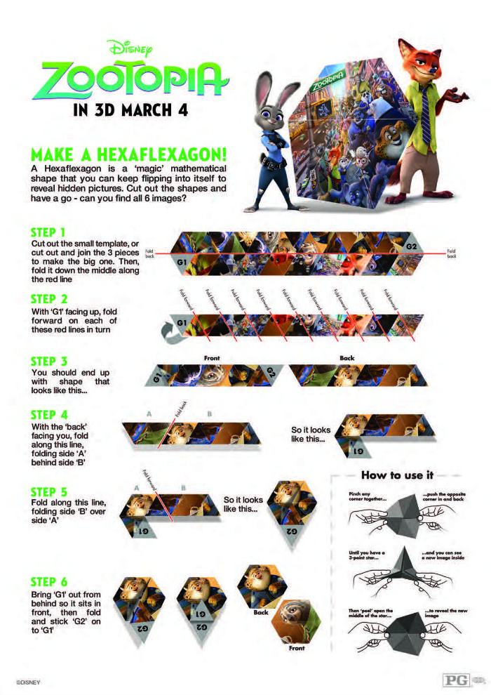 Zootopia-Activity-Sheet-Hexaflexagon-700