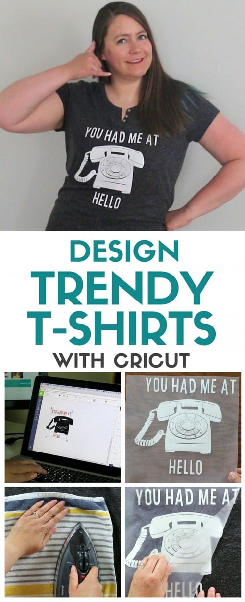 Design Trendy T-Shirts with Cricut from The Crafty Blog Stalker