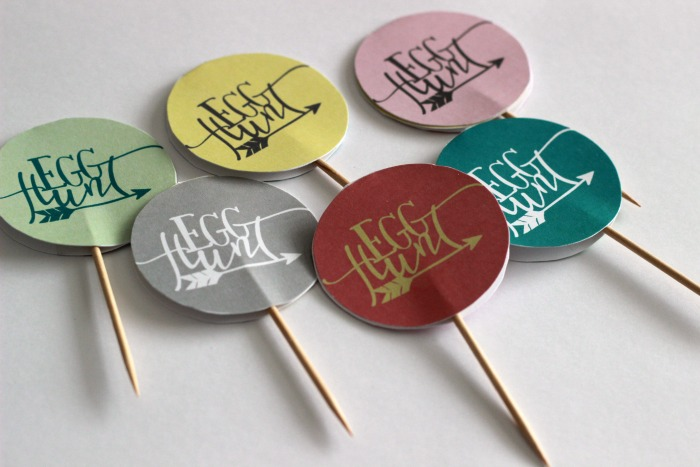 Egg Hunt Cupcake Toppers