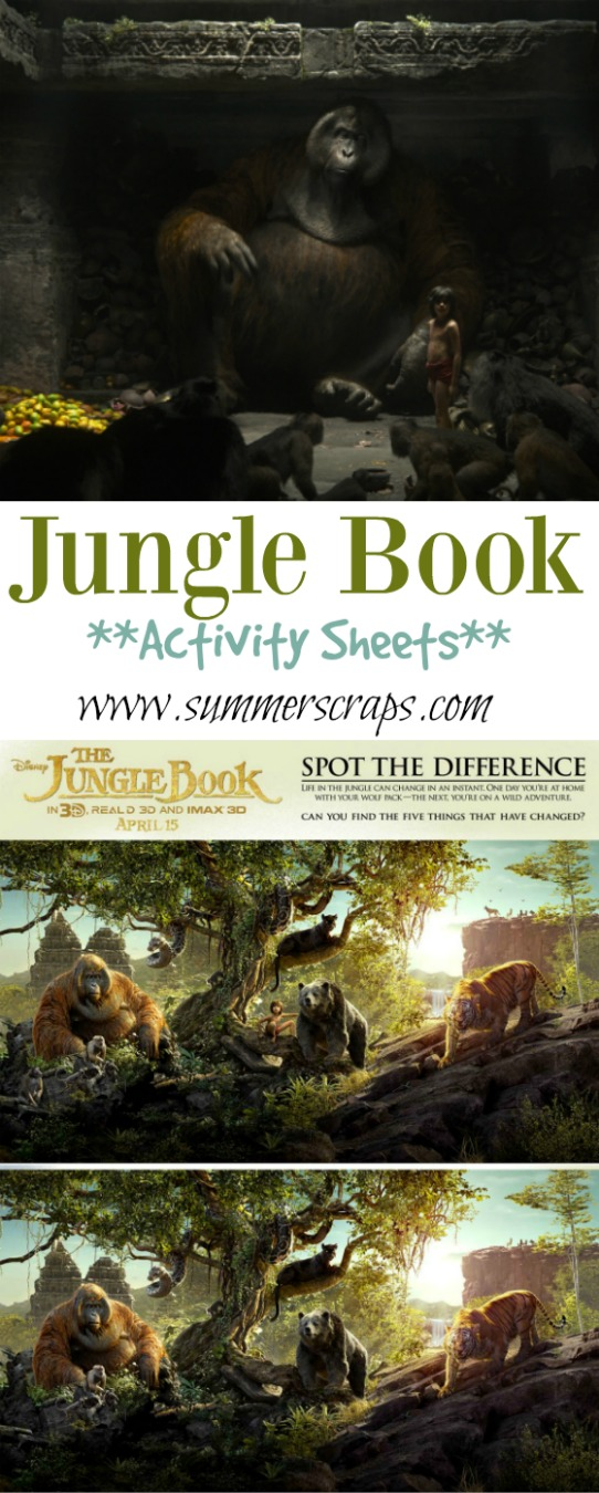 Jungle Book Activity Sheets
