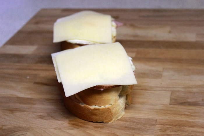 Cheese on sandwiches
