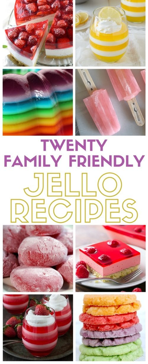 Family Friendly Jello Recipes | Gelatin | Alcohol-Free | for Kids and Adults |