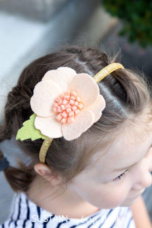 Kids felt flower headband