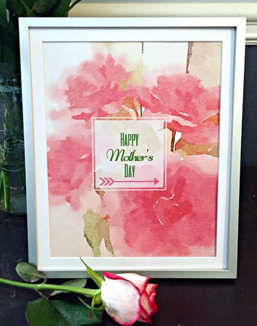 These four free watercolor printables are perfect for framing or creating a unique card, just in time for Mother's Day. Mom is sure to love the soft floral colors and inspirational quotes.