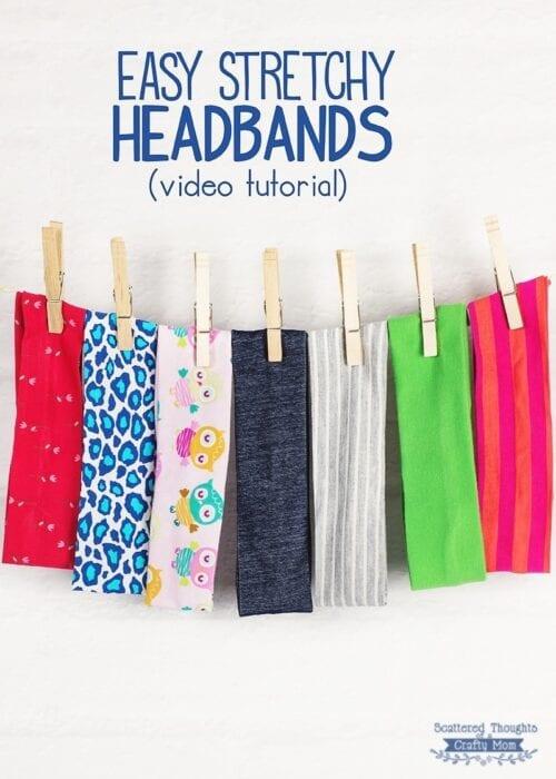 how to make stretch headbands