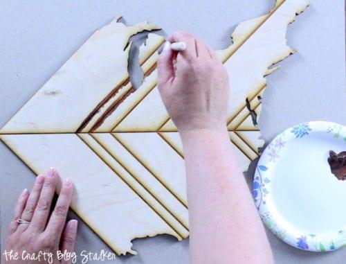 Inspirational Map Decor | United States | Laser-Cut Wood Map | DIY Home Decor