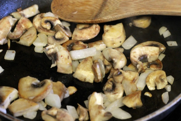 cooked mushrooms and onions