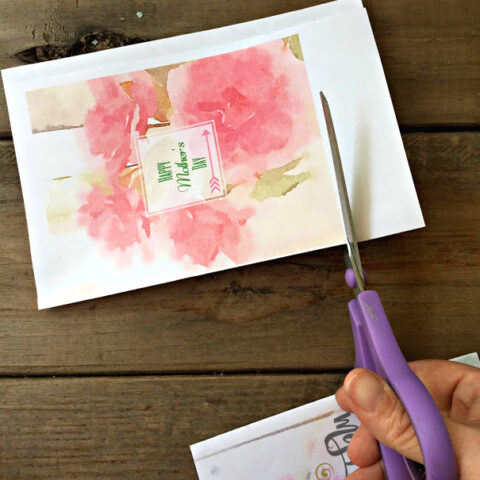 How to Make a Handmade Card with Free Mother's Day Printables