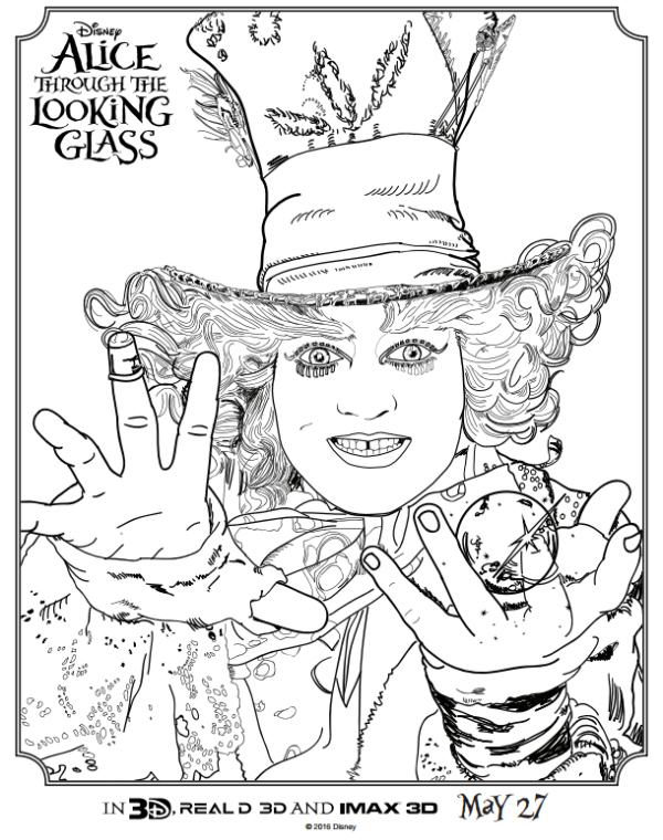 Alice Through the Looking Glass Printable Activity Pages - Food ...