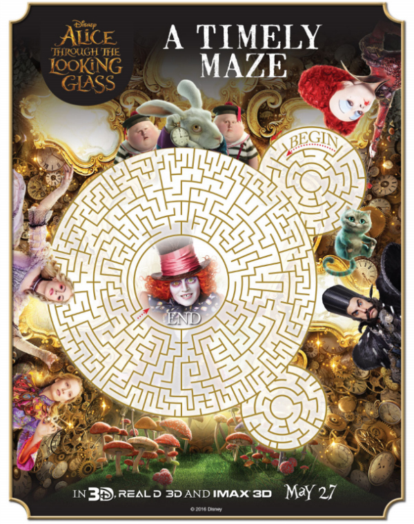 Alice Through The Looking Glass Printable Activity Pages: Maze