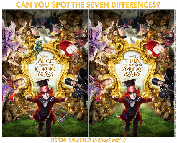 Alice Through The Looking Glass Printable Activity Pages: Spot The Differences