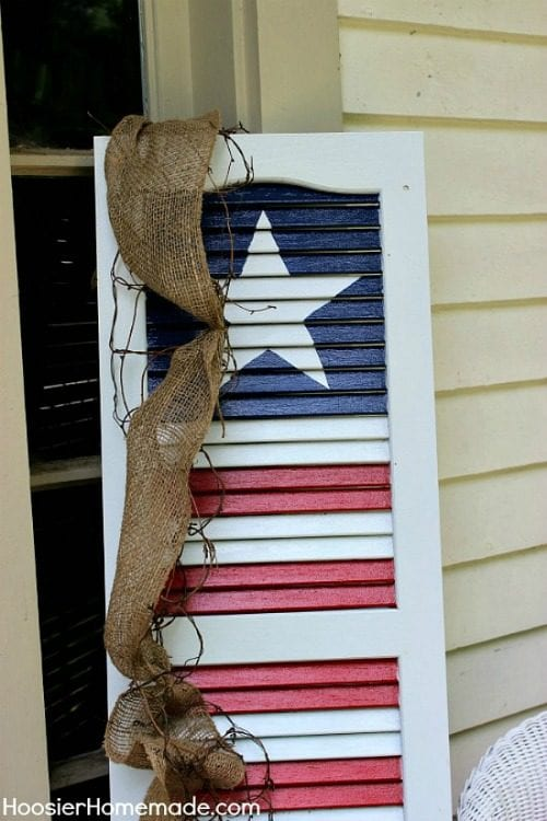 image of DIY Patriotic Shutter