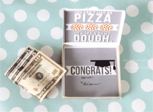 image of a Graduation Pizza Gift Box