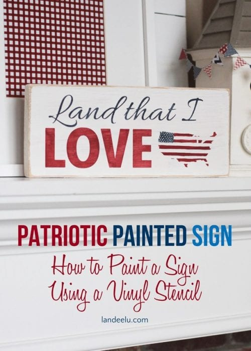 image of 4th of July Hand Painted Sign