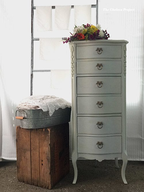 A French Chest is given a new life with a mineral based chalk type paint