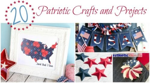 Patriotic Crafts and Projects | Easy DIY tutorial ideas | Red, White and Blue | 4th of July | Memorial Day | Veteran's Day | Independence Day