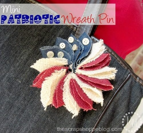 image of Mini Patriotic Pin Wreath
