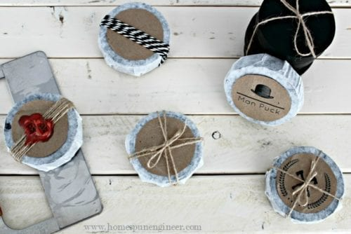 How to Make Honey Sandalwood Soap Pucks | Tutorial | Easy DIY Craft Tutorial Idea | Soap Making | Father's Day | Charcoal | Gift Ideas | Instructions | Free Printable |