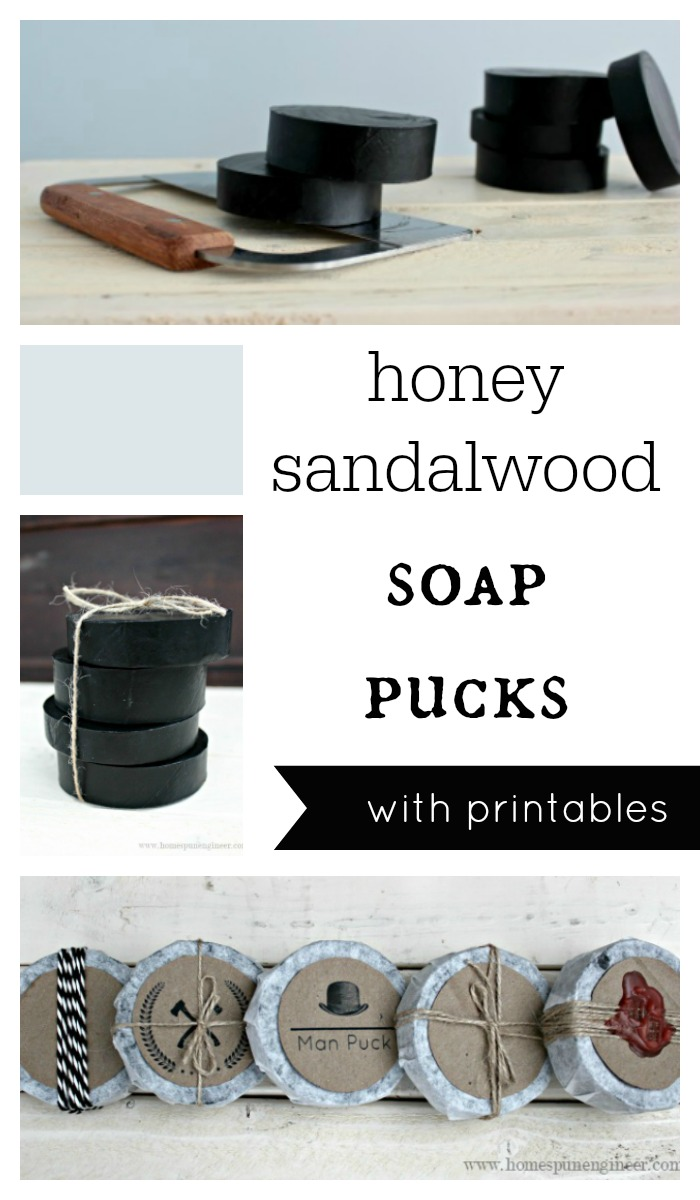 How to Make Honey Sandalwood Soap Pucks | Tutorial | Easy DIY Craft Tutorial Idea | Soap Making | Father's Day | Gift Ideas | Instructions | Free Printable |