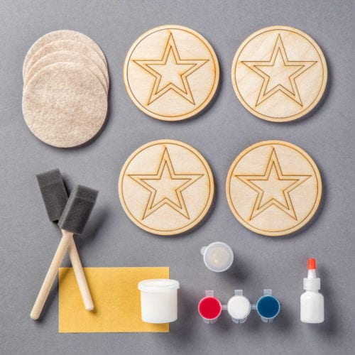 Join me on Facebook Live as I host a virtual Craft Day! I will be assembling the All-American Coasters Apostrophe S Craft Kit.