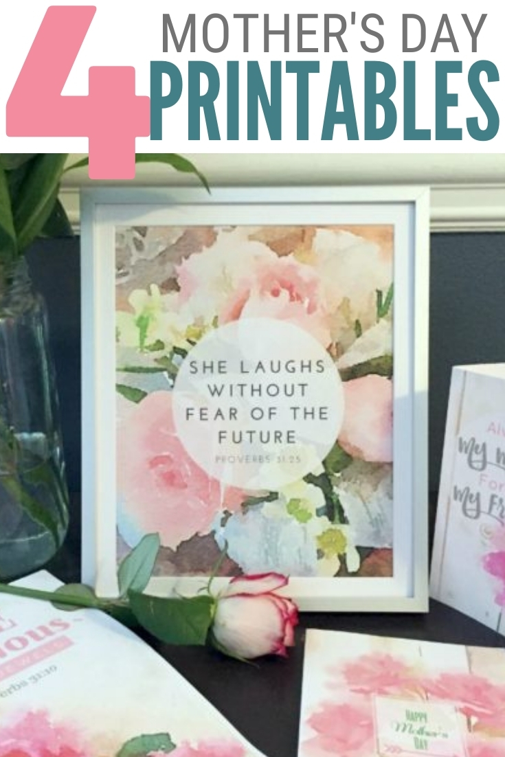 free watercolor printables mothers day 2