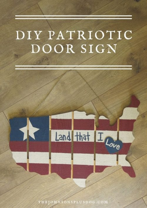 image of DIY Patriotic Wood Sign