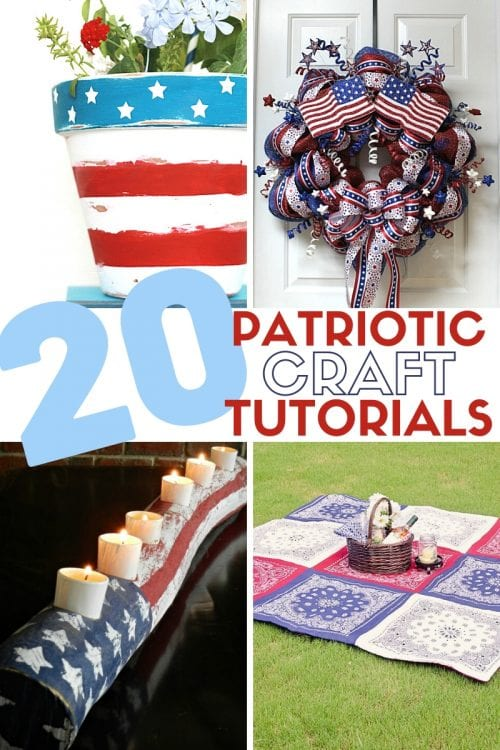 title image for 20 Patriotic Crafts to Make and Sell