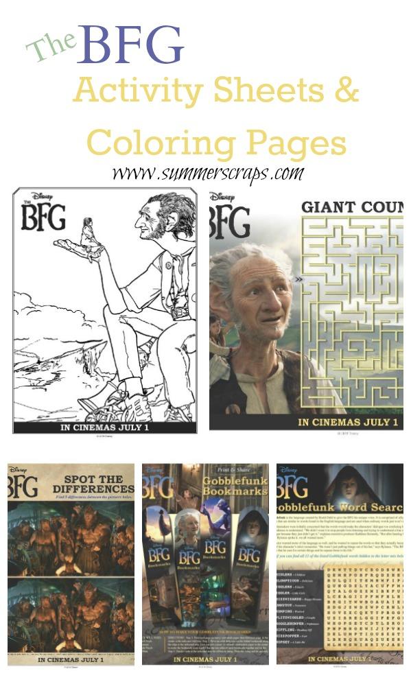 BFG Activity Sheets Collage