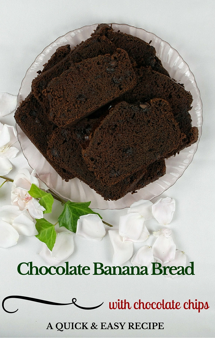 If you like banana bread, you are going to love this! Chocolate Banana Bread - with chocolate chips too!