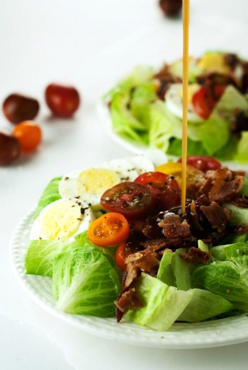 image of Tomato BLT Salad with Warm Bacon Dressing