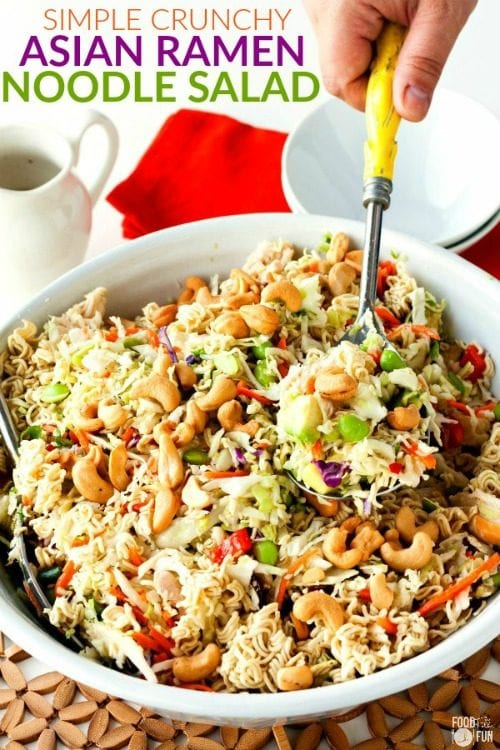 image of Asian Ramen Noodle Salad