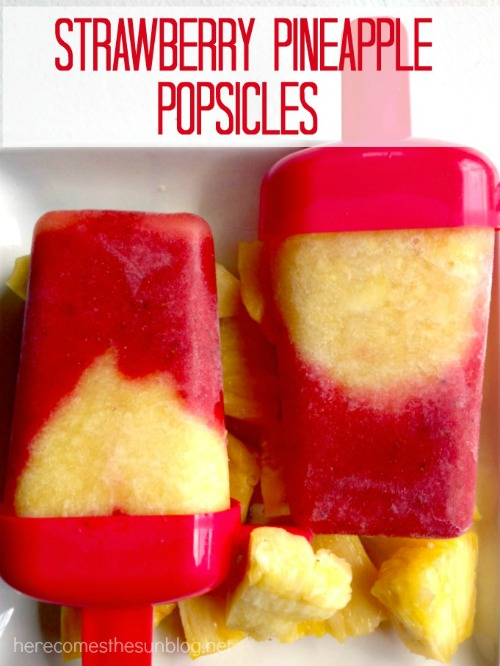 image of Strawberry Pineapple Popsicles