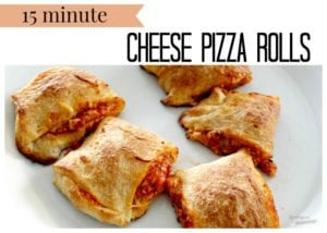 15 Minute Cheese Pizza Rolls