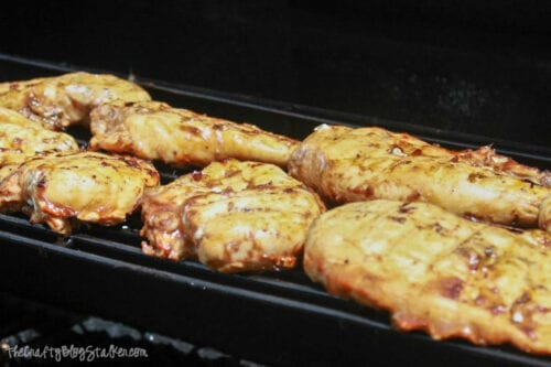 grilling chicken on a BBQ