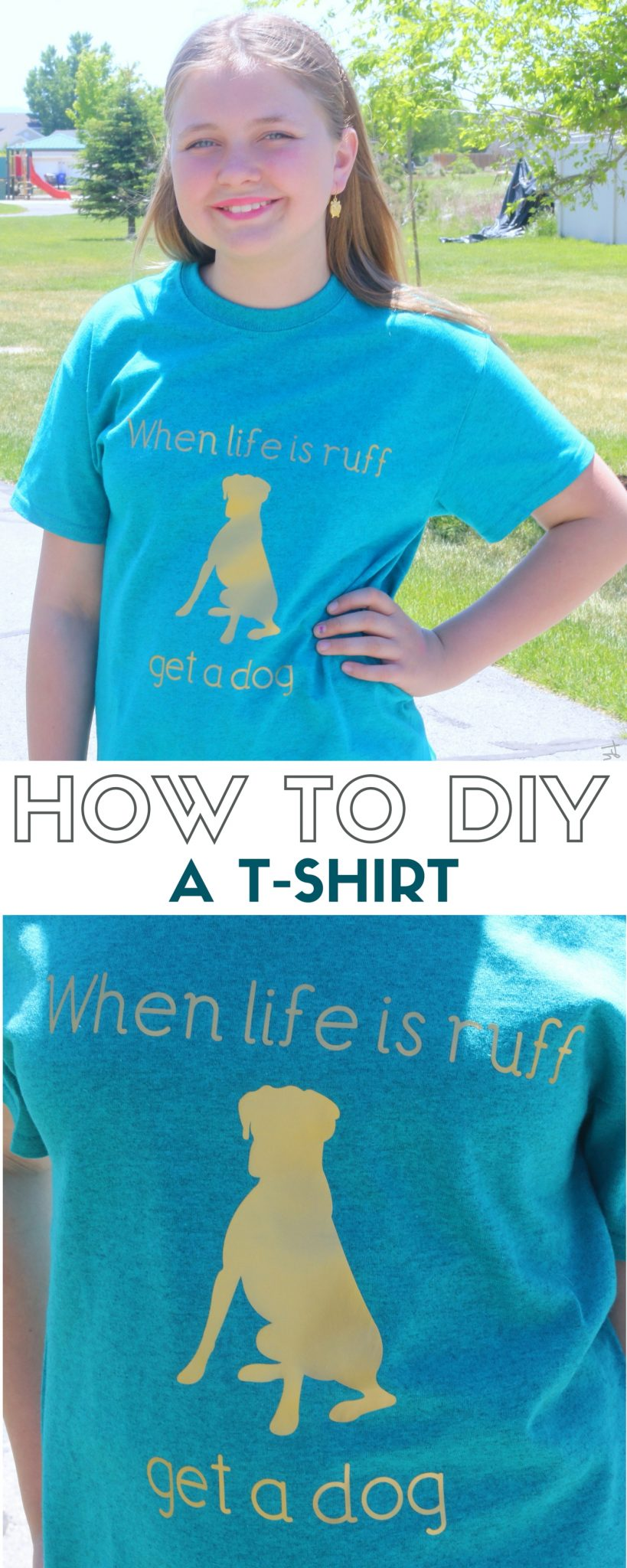How To Diy A T Shirt With Iron On Transfer The Crafty
