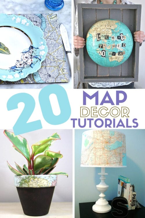 title image for 20 Ideas for Decorating with Maps