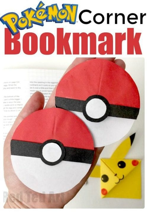 image of Pokeball Bookmark Corner