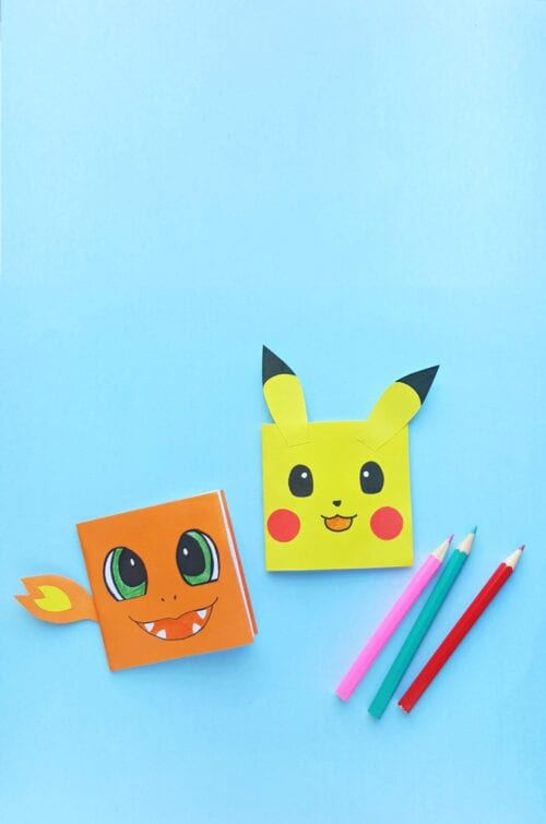 image of Pokemon Notebook Craft