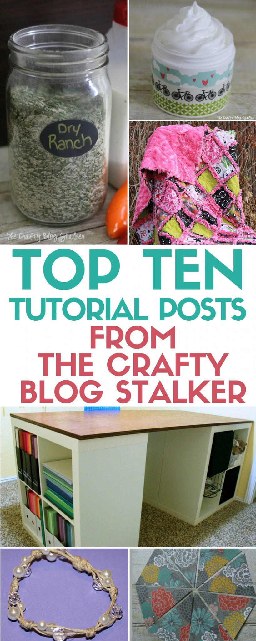 Welcome to The Crafty Blog Stalker site! Get to know this fun tutorial based site by checking out the top ten most viewed simple DIY craft tutorial ideas!