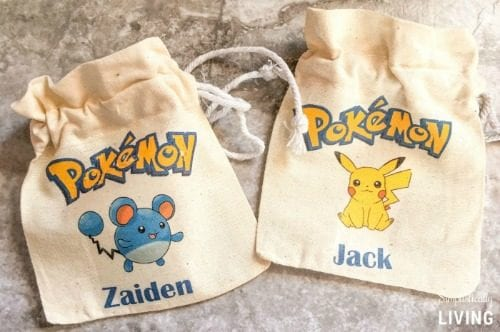 image of DIY Custom Pokemon Party Favor Bags