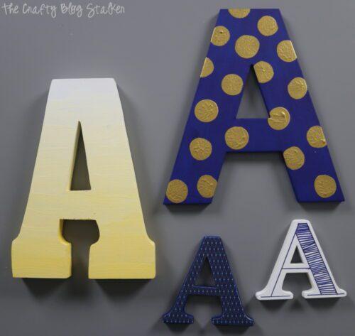 Decorated Monogram Letters