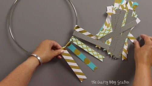 image of creating a hanging paper mobile