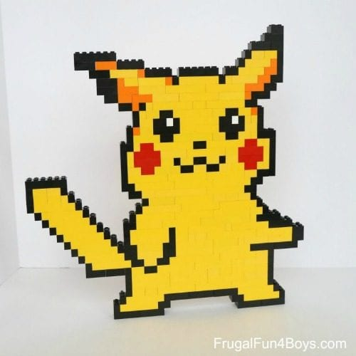 Top 20 Pokemon Party and Craft Ideas featured by top US craft blog, The Crafty Blog Stalker: Pokemon Lego